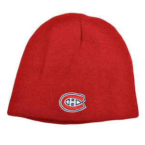 NHL LNH Reversible Zephyr Nordic Cuffless Beanie Knit Hat Montreal Canadiens