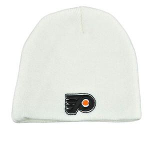 NHL LNH White Bulky Knit Toque Nordic Beanie Cap Hat Philadelphia Flyers Zephyr