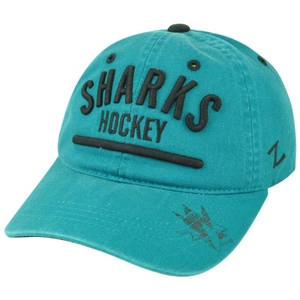 NHL San Jose Sharks Zephyr Chiller Corduroy Adjustable Garment Wash Hat Cap