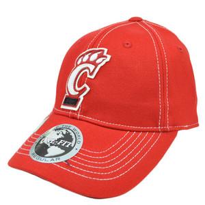 Cincinnati Bearcats UC Applique Patch Hat Cap NCAA Flex Fit Stretch Top World