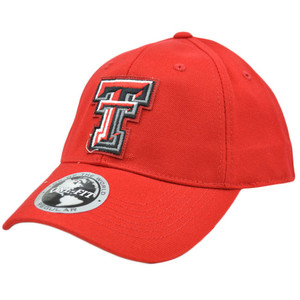 Texas Tech Red Raiders Applique Patch Hat Cap NCAA Flex Fit Stretch Top of World