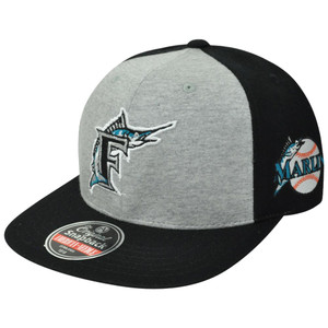 MLB American Needle Florida Marlins Jimbo Flat Bill Adjustable Snapback Hat Cap