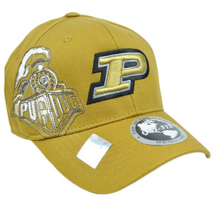 NCAA Purdue Boliermakers Hat Cap Flex Fit Stretch Top of the World Mustard Gold