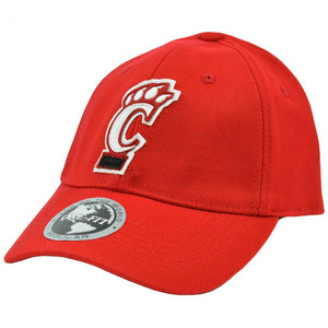 NCAA Cincinnati Bearcats Cats Red White Applique Patch Hat Cap Flex Fit Stretch
