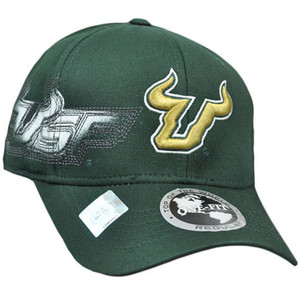 NCAA South Florida Bulls Hat Cap Flex Fit Stretch Top of the World Dark Green