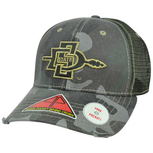 NCAA San Diego Aztecs Deliverance Pro Pocket Camouflage Flex Fit Hat Cap M/L