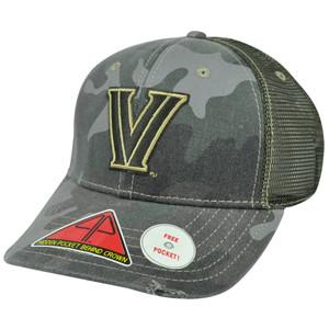 NCAA Villanova Nova Wildcats Deliverance Pro Pocket Camo Flex Fit Hat Cap M/L