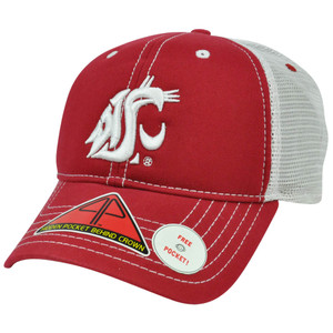 NCAA Washington Cougars Hat Cap Pro Pocket Mesh Flex Fit Cool Comfort M/L