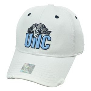NCAA Distressed Hat Cap Flex Fit Top of World Small Med North Carolina Tar Heels