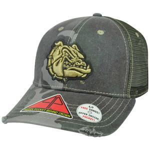 NCAA Gonzaga Bulldogs Deliverance Pro Pocket Camo Distress Flex Fit Hat Cap M/L
