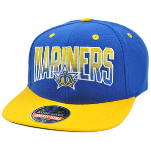 MLB American Needle Retro Flat Bill Snapback Cap Hayes Wool Seattle Mariners
