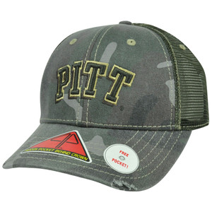 NCAA Pittsburgh Panthers Deliverance Pro Pocket Camouflage Flex Fit Hat Cap M/L