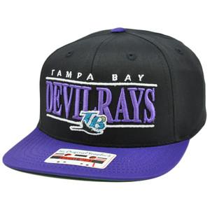 MLB American Needle Nineties Twill Cap Snapback Flat Bill Tampa Bay Devil Rays