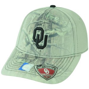 NCAA Oklahoma Sooners Battle Fade Camouflage Stretch Flex Fit One Size Hat Cap