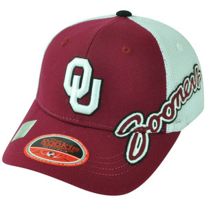 NCAA Top of the World Oklahoma Sooners Brisk Youth Stretch Flex Fit Mesh Hat Cap