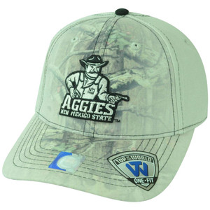 NCAA New Mexico State Aggies Battle Fade Camo Flex Fit One Size Stretch Hat Cap