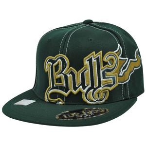 NCAA South Florida Bulls Saga Top of the World Flex Fit Flat Bill Stretch Hat