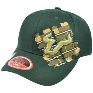 NCAA South Florida Bulls Head Spin Top of the World Youth Flex Fit Stretch Hat