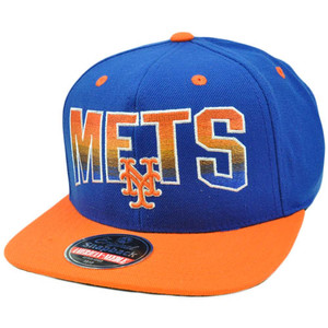 MLB American Needle Retro Snapback Hat Cap Hayes Flat Bill Wool New York Mets