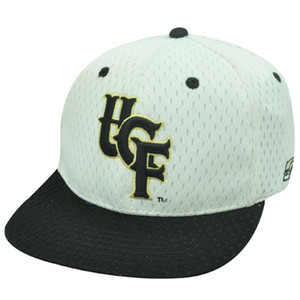NCAA FITTED CAP HAT CENTRAL FLORIDA KNIGHTS WHITE 6 3/4