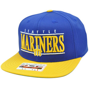 MLB American Needle Nineties Twill Cap Hat Snapback Flat Bill Seattle Mariners