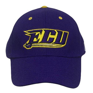 NCAA FITTED CAP HAT EAST CAROLINA PIRATES PURPLE 7 1/8