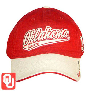 FITTED CAP HAT OKLAHOMA SOONERS RED REEBOK HEISMAN LG