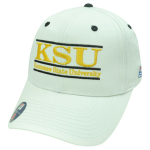 NCAA FITTED HAT CAP KENNESAW STATE OWLS WHITE SMALL NEW