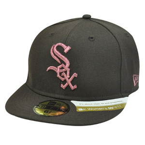 MLB CHICAGO WHITE SOX BROWN HAT CAP FITTED 6 7/8 NEW