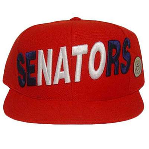 MLB WASHINGTON SENATORS FLAT BILL FITTED HAT CAP 7 1/2