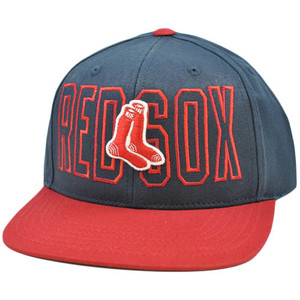 MLB Boston Red Sox American Needle Navy Dark Blue Red Snapback Flat Bill Hat Cap