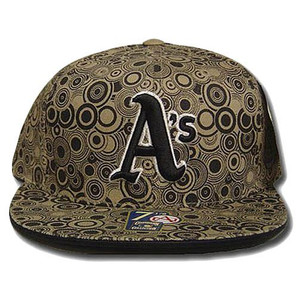 MLB OAKLAND ATHLETICS FLAT BILL HAT CAP BLACK SIZE 8