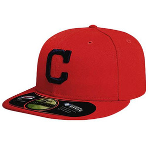 MLB CLEVELAND INDIANS NEW ERA 59FIFTY 5950 FITTED HAT CAP RED NAVY FIELD 7 1/8