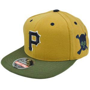 MLB American Needle Blockhead Earthtone Wool Cap Hat Snapback Pittsburgh Pirates
