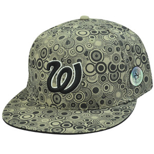 MLB WASHINGTON NATIONAL FLAT BILL HAT CAP 8 FITTED
