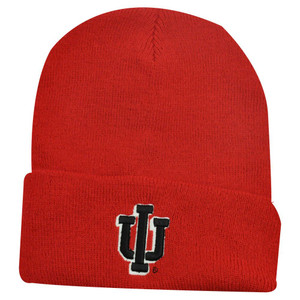 NCAA BEANIE KNIT HAT CUFF INDIANA HOOSIERS RED CRIMSON