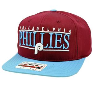 MLB American Needle Nineties Twill Cap Flat Bill Snapback Philadelphia Phillies