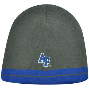 NCAA AIR FORCE FALCONS GRAY BLUE CUFFLESS BEANIE KNIT TOQUE HAT LICENSED GAME