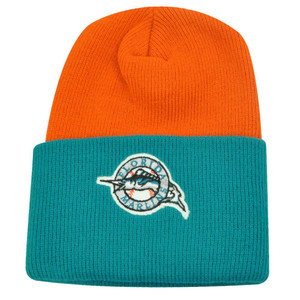 MLB FLORIDA MARLINS CUFF BEANIE KNIT TOQUE AQUA ORANGE