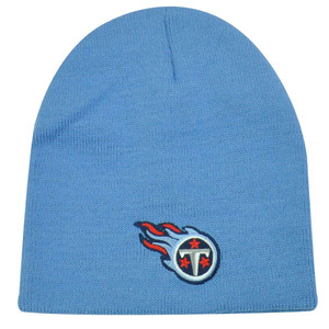NFL TENNESSEE TITANS LIGHT BLUE CUFFLESS LICENSED BEANIE KNIT HAT SKULLY TOQUE