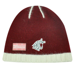 NCAA WASHINGTON COUGARS ANGORA WOMENS BEANIE KNIT TOQUE