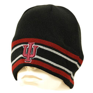 NCAA BEANIE KNIT HAT INDIANA HOOSIERS FLEECE TOQUE CAP
