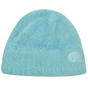 CUFFLESS BEANIE FUR KNIT HAT NEW YORK JETS BABY BLUE