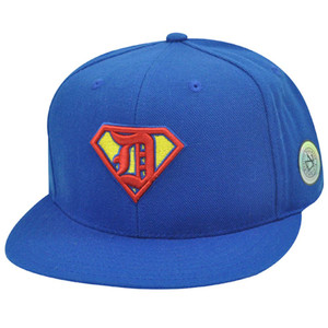 Detroit Tigers Superman Cooperstown American Needle Fitted 7 3/4 Flat Hat Cap