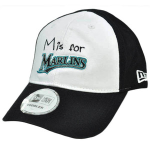 MLB New Era Florida Marlins Toddler Youth Baseball Flex Fit Hat Cap White  Black d461d41261d