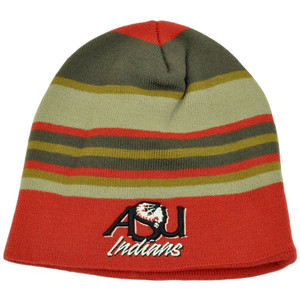 NCAA Top of the World Arkansas State Indians Striped Beanie Skully Knit Cuffless