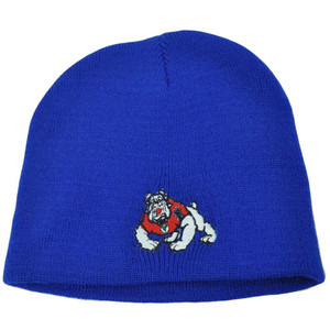 NCAA Fresno Bulldogs Cuffless Knit Beanie Skull Skully Acrylic Toque Thin Hat
