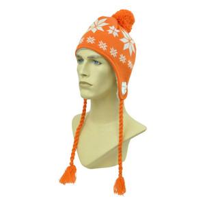 NCAA Top Of The World Clemson Tigers Fleece Ear Flap Tassel Beanie Pom Pom Knit