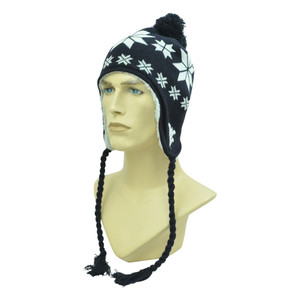NCAA Top Of The World West Virginia Mountaineers Ear Flap Tassel Beanie Pom Knit