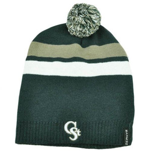 NCAA Zephyr Long Slouch Pom Ball Knit Beanie Revolution Hat Colorado State Rams